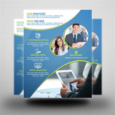 Printable Corporate Flyer Flyer Template Flyer Editable Pages Flyer Templates