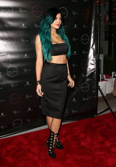 kylie kouture hair kylie jenner at kylie hair kouture launch in beverly hills