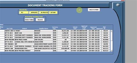 Document Tracking