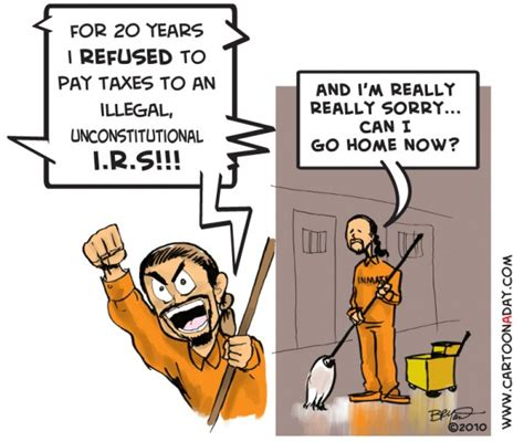 personal income tax is actually illegal former irs agent beat the irs this tax season cartoon