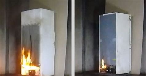 plastic fridge curtains london fire brigade s shocking video shows why you should