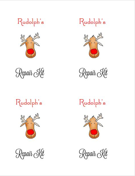 printable rudolph gift tags rudolph s repair kit free printable favor gift tag i dig