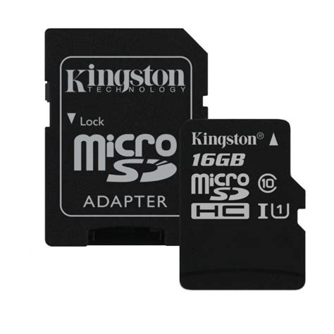 Micro Sdhc 16 Gb Class 10 kingston micro sdhc 16gb sd adapt 233 r uhs i class 10