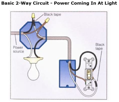 wiring lights with switch at end of run diagram www