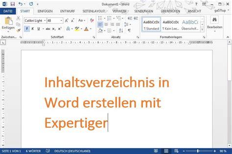 Word Vorlage Inhaltsverzeichnis Erstellen Inhaltsverzeichnis In Word So Geht S Expertiger