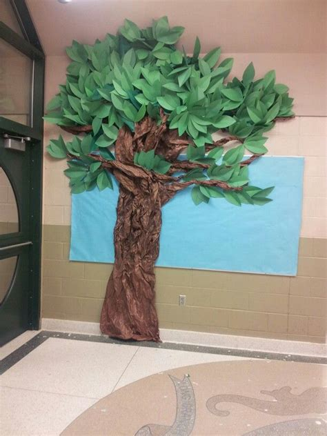 How To Make A Bush Out Of Paper - 25 best ideas about paper tree classroom on