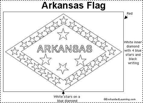 arkansas flag printout enchantedlearning com