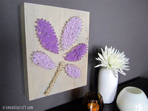 home decor craft projects diy wall from yarn nails