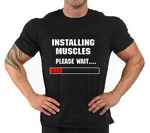 t shirt bodybuilding fitness palestra quot installing muscles quot ebay