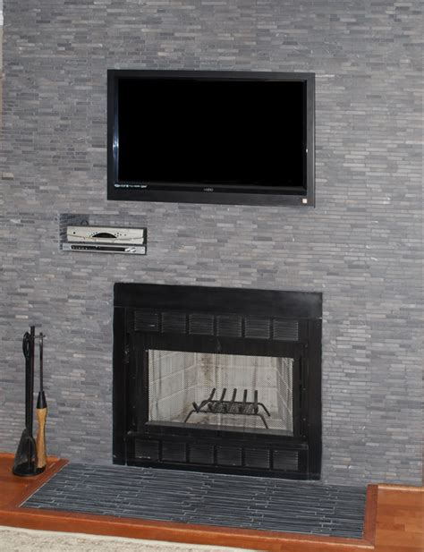 Feature Fireplaces by Floor To Ceiling Grey Fireplace House