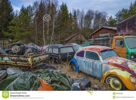volkswagen scrap yards scrapyard for cars volkswagen stock photo image 28485280