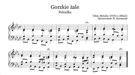 Ulani Maxy gorzkie 綣ale pobudka nuty i tekst pdf na organy lub