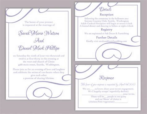 Wedding Invitation Letter In Word Format Diy Wedding Invitation Template Set Editable Word File Instant Printable Invitation