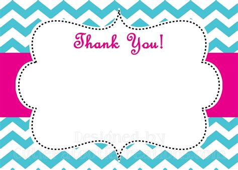 4 Best Images Of Blank Printable Labels Thank You Printable Blank Name Tags Template Chevron Printable Thank You Card Template