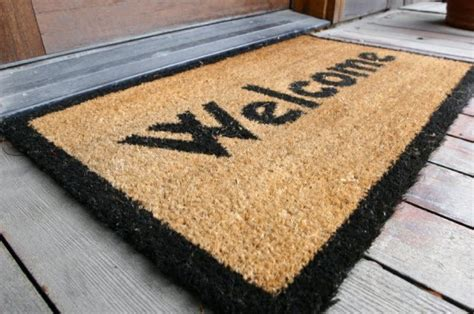 Welcome Mat How To Clean A Doormat