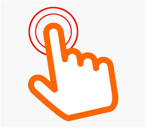 orange click  hand png transparent click icon png
