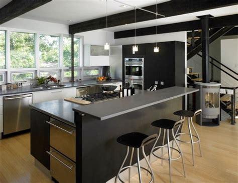 cuisine am駭ag馥 design cuisine moderne avec ilot central cuisine en image