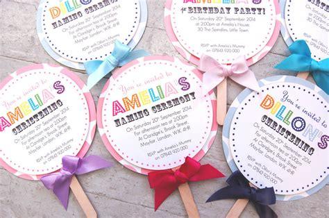 unique invitation card design for christening lollipop christening invitation by made with love designs
