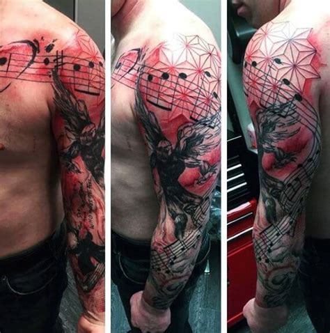 cool tattoo ideas red ink top 100 best sleeve tattoos for cool design ideas
