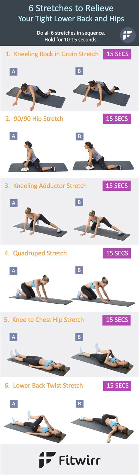 best stretch 6 stretches to relieve your tight lower back and hips