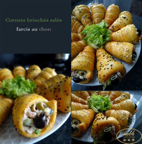 駘駑ent de cuisine ind駱endant cornets brioch 233 s sal 233 s farcis au thon makla la cuisine