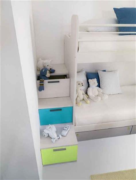 letti a con scala a cassetti cameretta con letto a fisso e pedana di salita