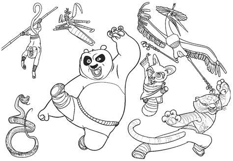 imagenes para colorear kung fu panda 2 dibujos de kung fu panda para colorear