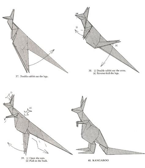 Kangaroo Origami - kangaroo origami by g hagiwara