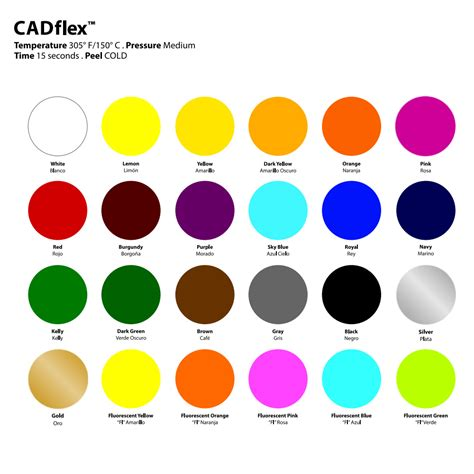 color transfer siser cadflex heat transfer vinyl 20 quot x 1 yard