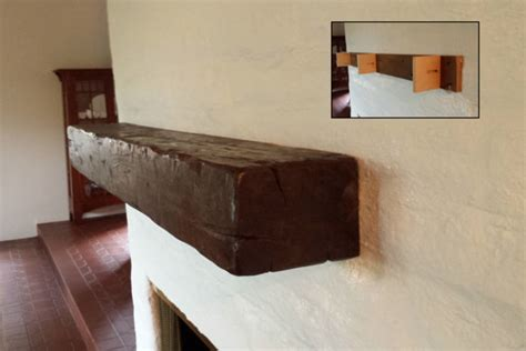 Installing Fireplace Mantel Shelf by Distressed Beam Mantel Shelves Los Angeles By The Mantel
