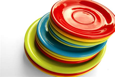 colorful plates free photo plate tableware colorful stack free image