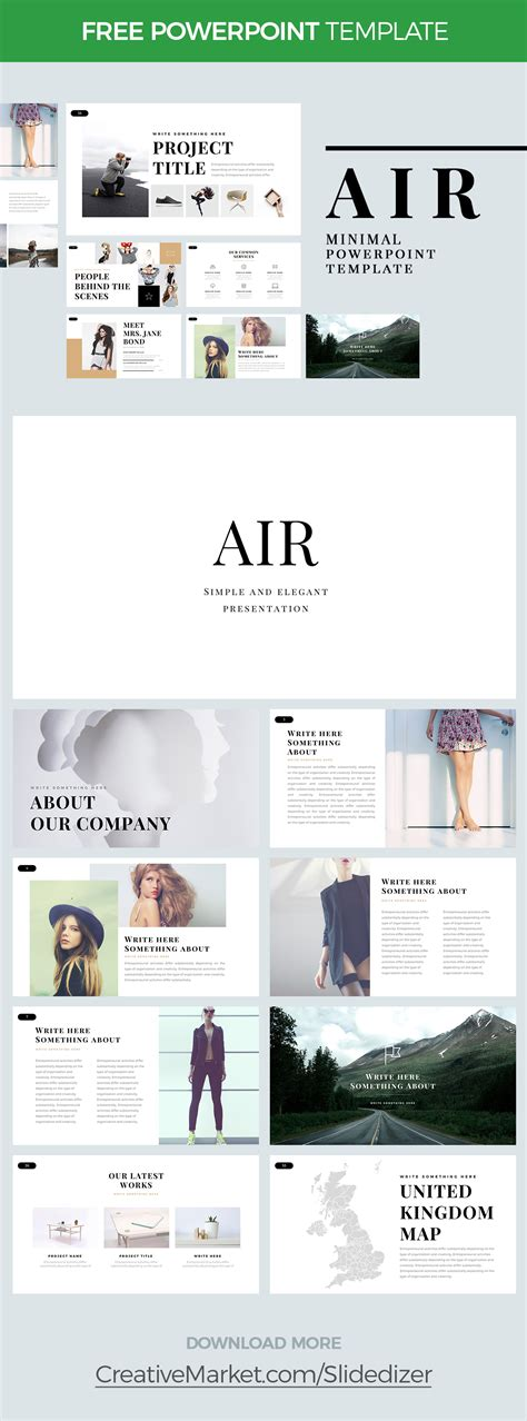 Air Free Minimal Powerpoint Template On Behance Air Powerpoint Template