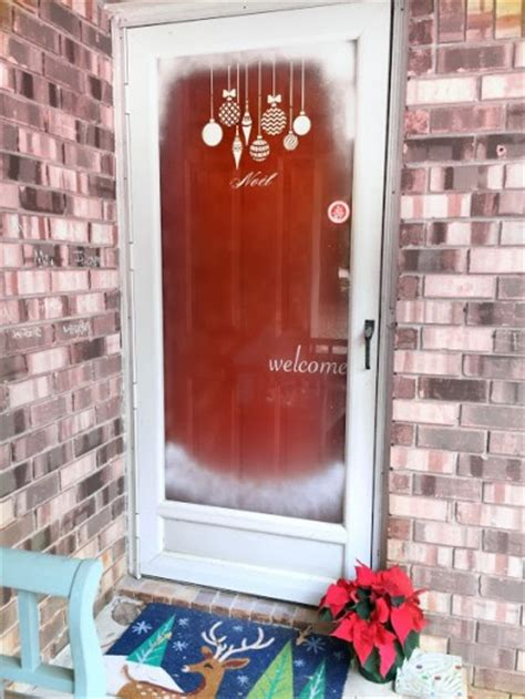 stencils for glass doors learn how to stencil a glass door for the holidays