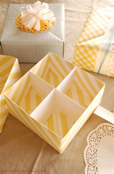 How To Make Handmade Paper Gift Boxes - make your own gift box with lid tutorial picture