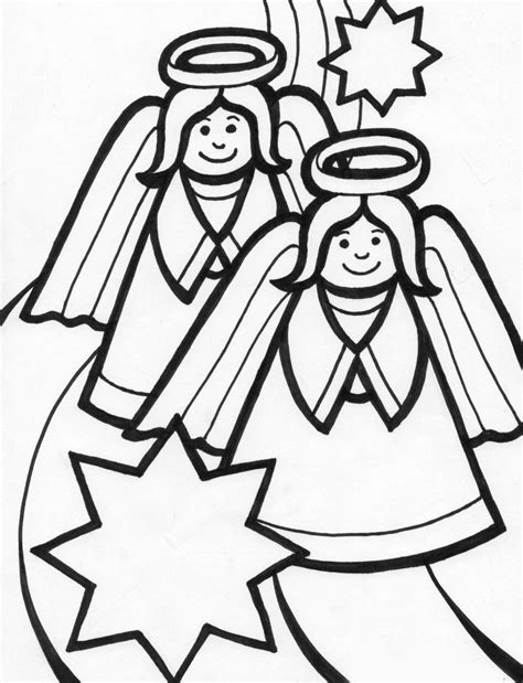 christmas angel coloring pages learn to coloring