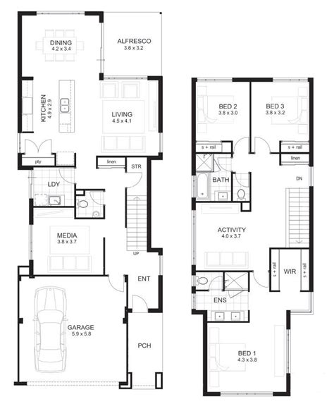 2 story home design perth house plans 2 story 3 bedrooms lovely 3 bedroom house