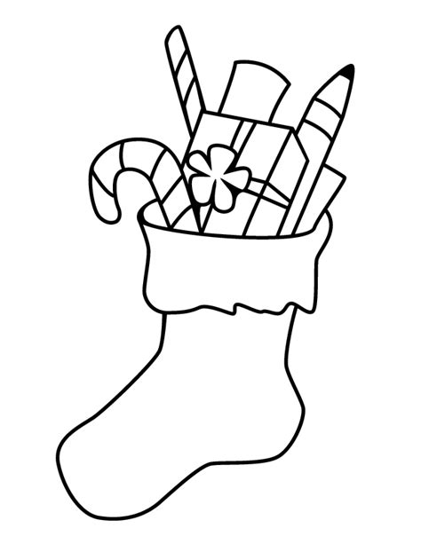 christmas stocking coloring page template christmas stocking templates coloring home