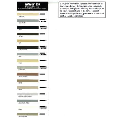 np1 color chart k l vulkem 116 polyurethane sealant 20oz coastal
