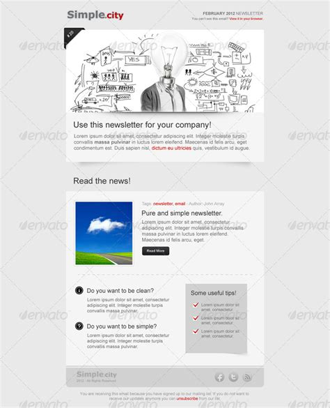 e newsletters templates simple city e newsletter template by silve992 graphicriver