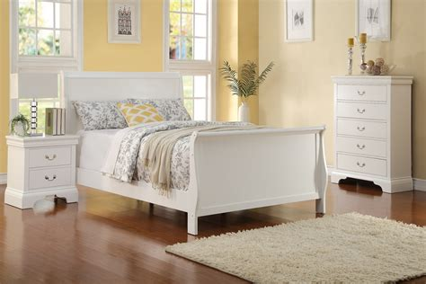 white bedroom set full size 3pc full size white louis philippe bed chest night stand