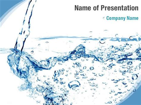 Powerpoint Templates Water – Clear Water PowerPoint Template & Background for Presentation