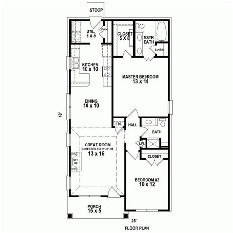 shotgun house layout traditional house plan 47550 traditional house plans