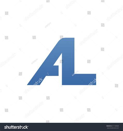 lettere al al letter logo connected stock vector 311100968
