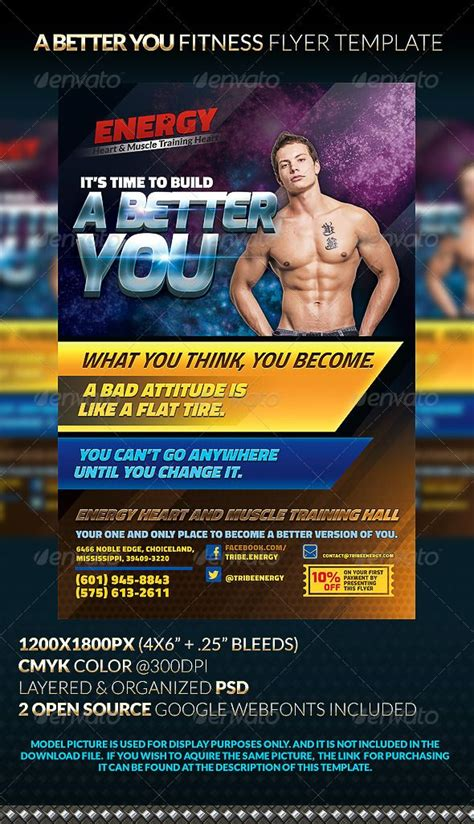 A Better You Fitness Flyer Template Models Flyer Template And The O Jays Free Fitness Flyer Template Publisher