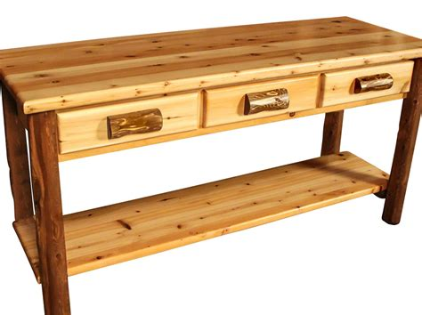 Sofa Table With Drawer by 3 Drawer Log Sofa Table