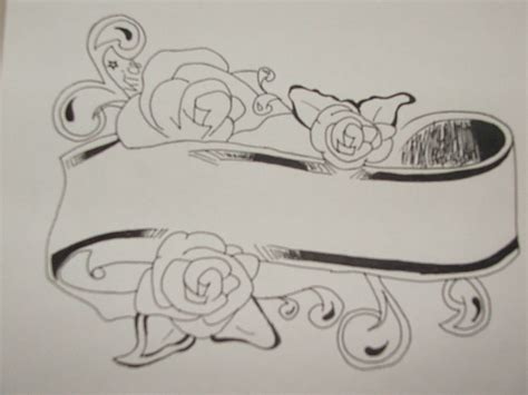 parchment tattoo designs banner tattoos ideas and design