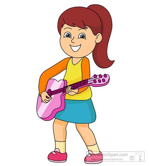 girl playing guitar clip art girl playing guitar clipart