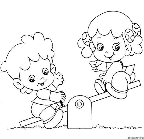 dibujos de ni os jugando para colorear az dibujos para colorear ni 241 as jugando en el parque para colorear imagui