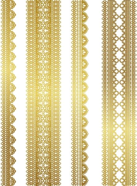 gold pattern graphic gold lace pattern 03 vector free vector in encapsulated