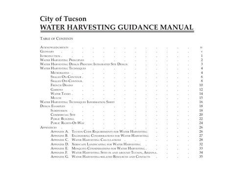 city of tucson section 8 city of tucson arizona rainwater harvesting manual